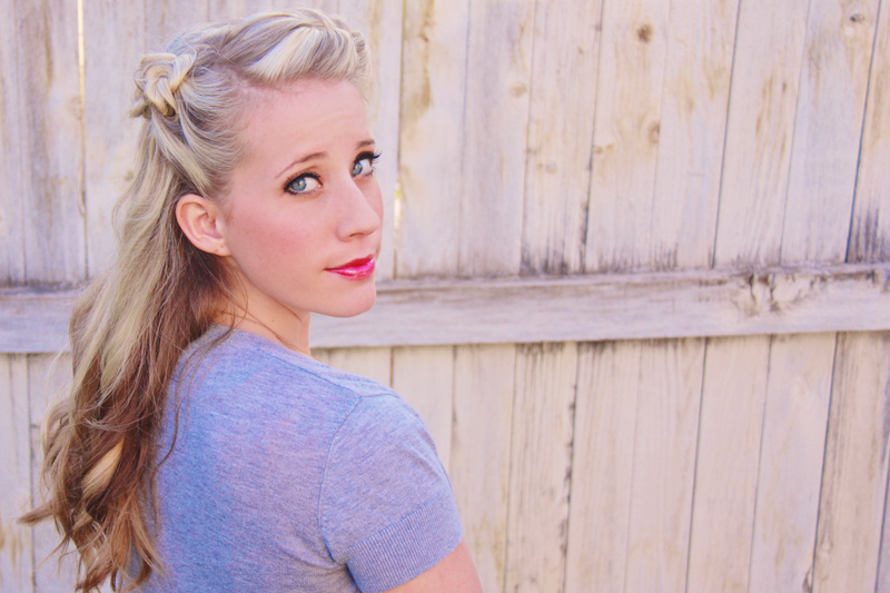 This 1930s-inspired hairstyle is just gorgeous. Find the tutorial at Twist Me Pretty.