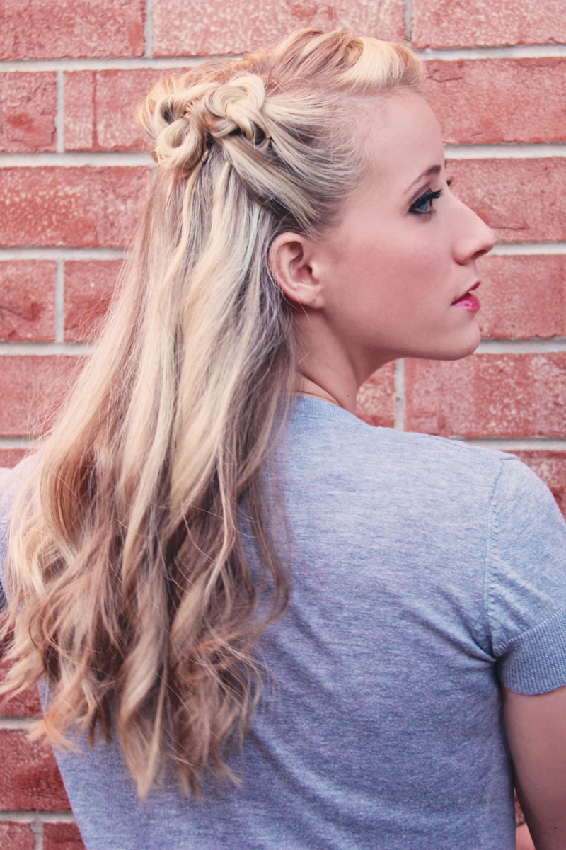 I do declare! A vintage hairstyle from Twist Me Pretty.