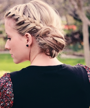 Day 11- braided messy bun