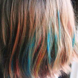Watercoloring your hair