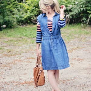 The denim dress that goes with everything