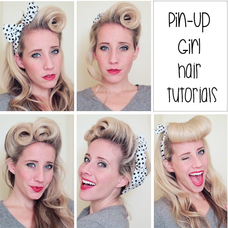 Top Row: The Rock-ability Roll and Updo can be found here