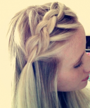 Dutch Braided Bangs
