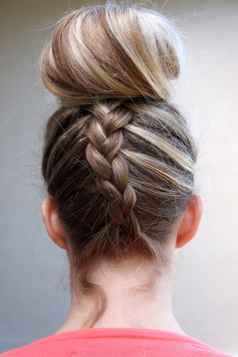 dutch braided top knot twist  pretty