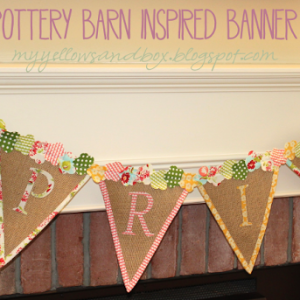 Pottery Barn Inspired Spring Banner