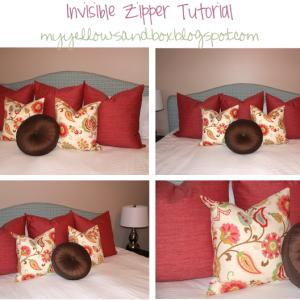 Invisible Zipper Pillow Tutorial