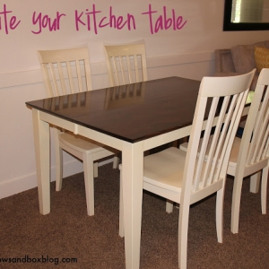 How to: Stain and Paint Your Kitchen Table