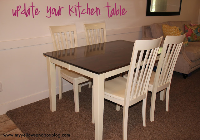 how to stain and paint your kitchen table twist me pretty. Black Bedroom Furniture Sets. Home Design Ideas