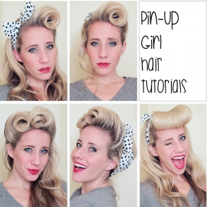 Pin Up Hair Tutorials