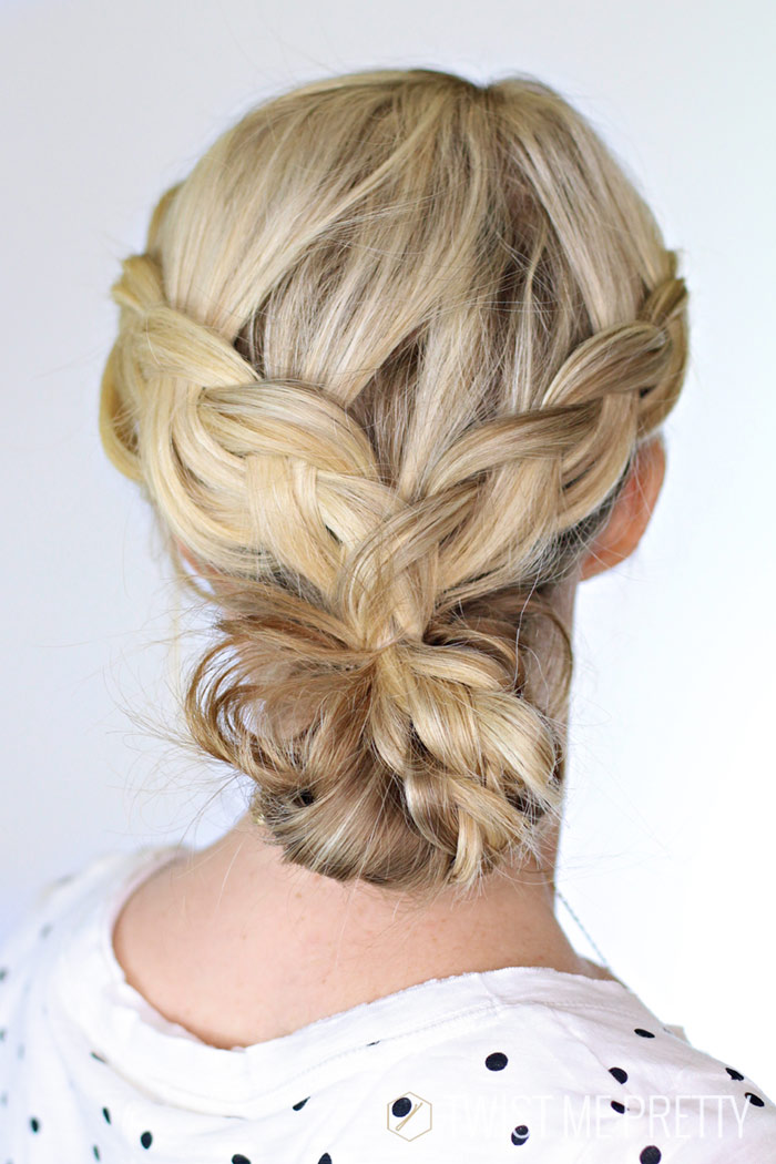 preety hair styles braided bun day 22 twist me pretty 4718