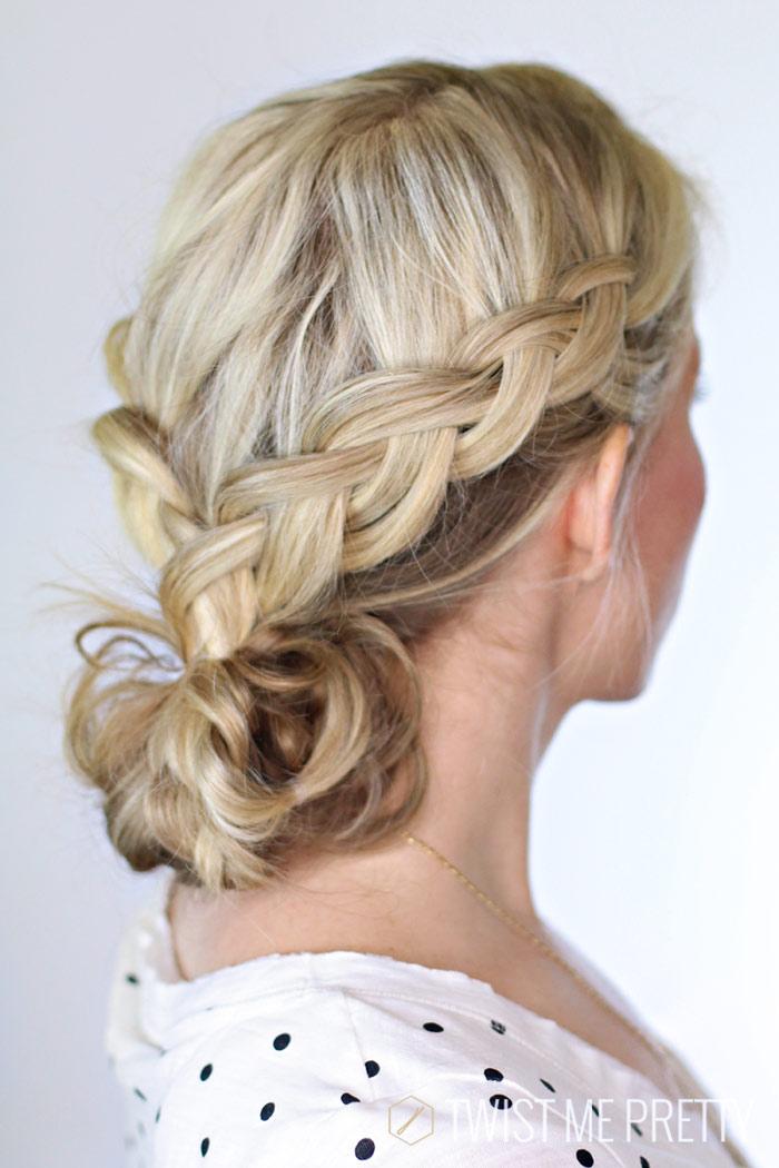 how to wear a french braided bun Twist me pretty www.twistmepretty.com