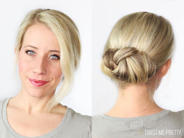 cute bun for long hair