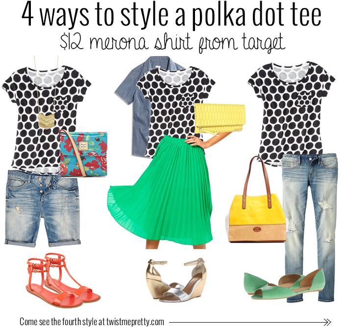 target style, polka dot shirt