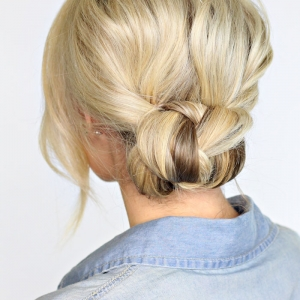 2 Minute Braided Bun