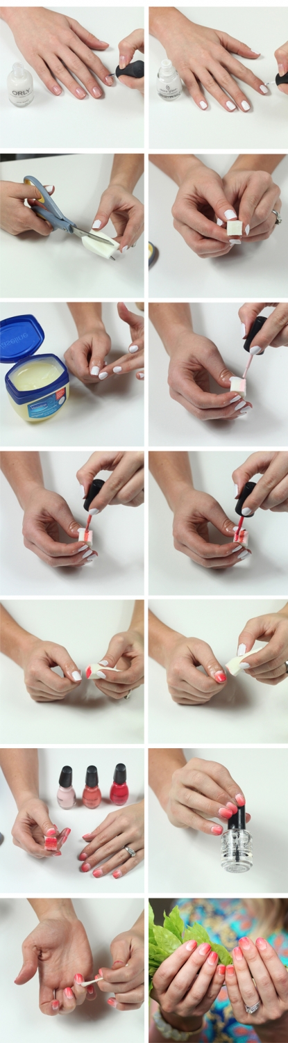 How To: Ombre Nail Art - Twist Me Pretty