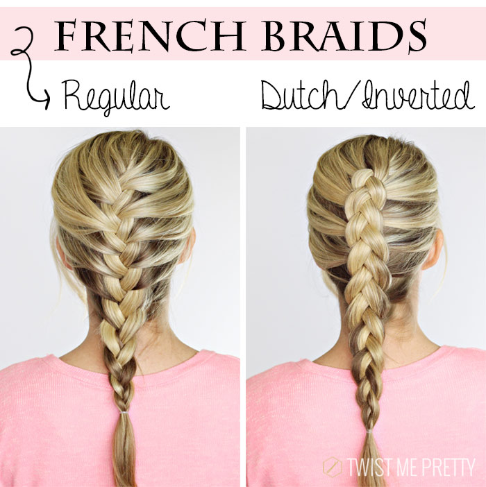 Diy 4 basic braids twist me pretty french braids solutioingenieria Gallery