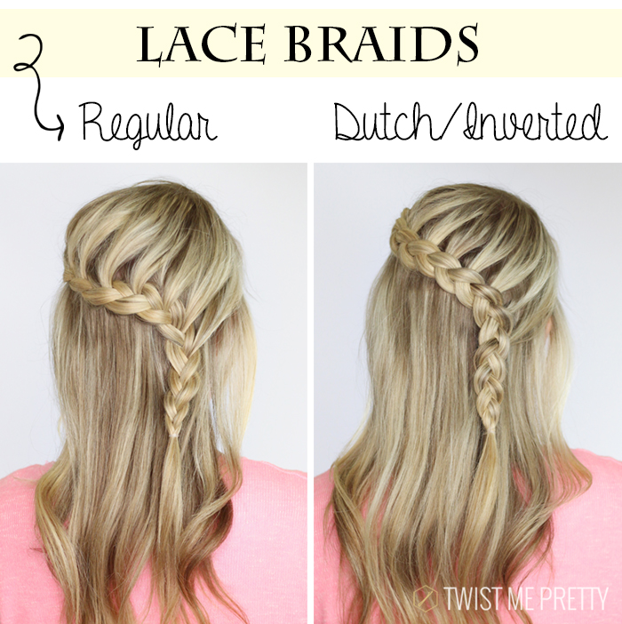 lace braid is when you only add new sections of hair into one of the
