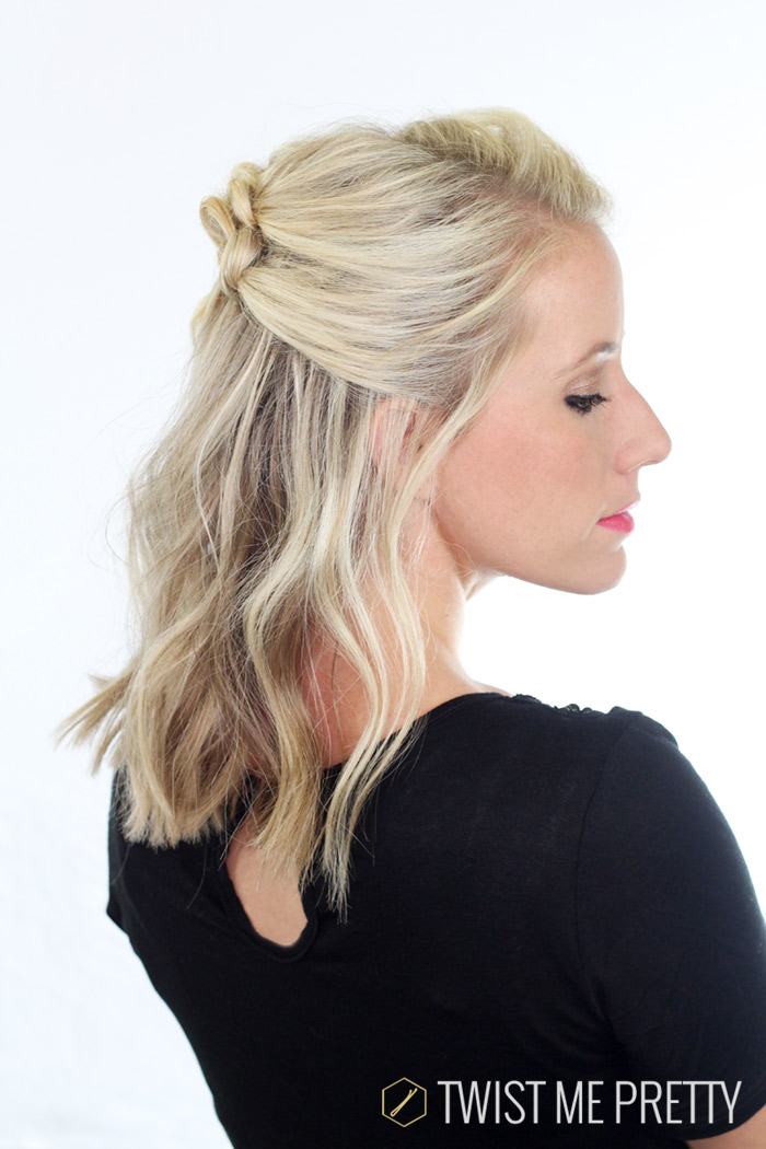 elegant half up hairstyle