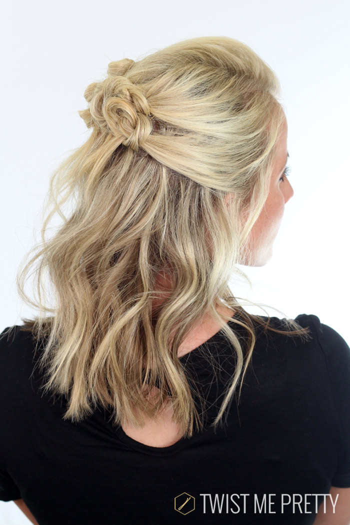 elegant hairstyle for short hair