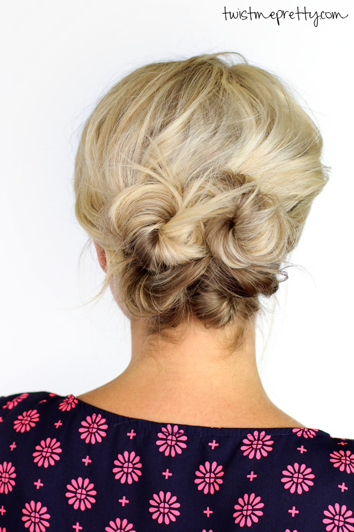 updo styles for short hair knotted updo for hair twist me pretty 4527 | 30