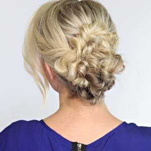 An Elegant Twisted Updo
