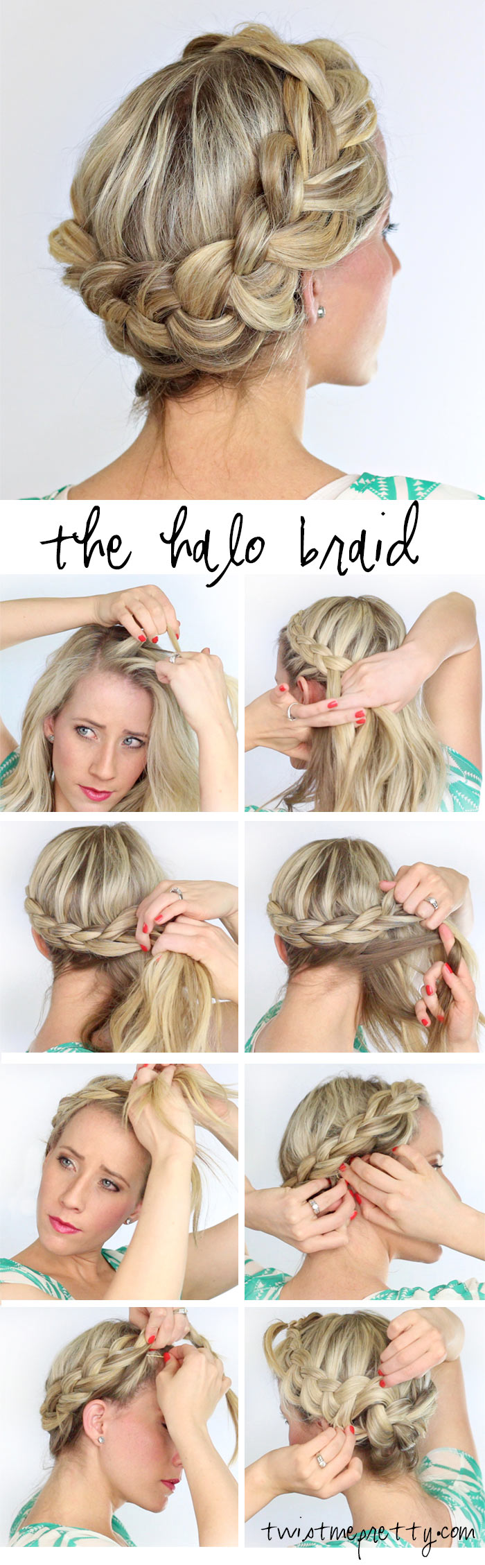 Fabulous A Fat Halo Braid Twist Me Pretty Short Hairstyles Gunalazisus