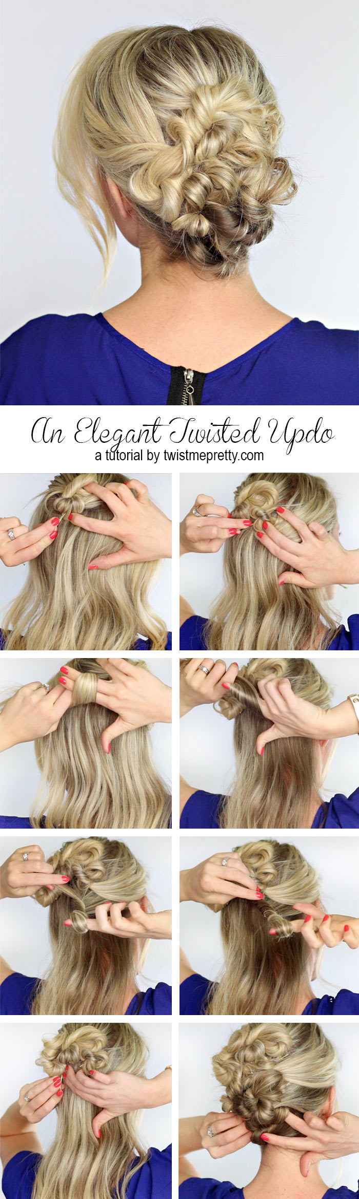 An Elegant Twisted Updo Twist Me Pretty
