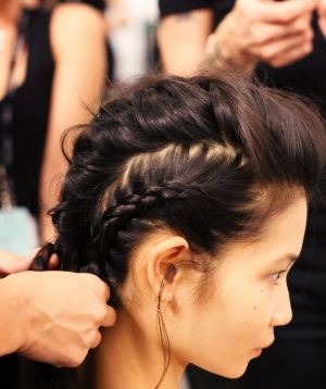 Backstage at Marissa Webb