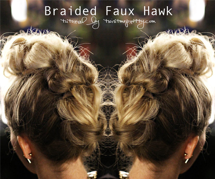 braided faux hawk tutorial
