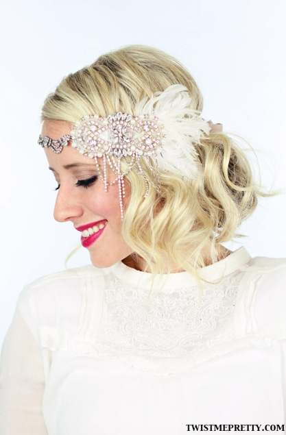 2 gorgeous GATSBY hairstyles for Halloween... or a wedding - Twist ...