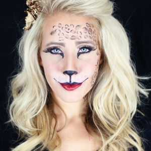 Easy Kitty Cat or Leopard Makeup Tutorial