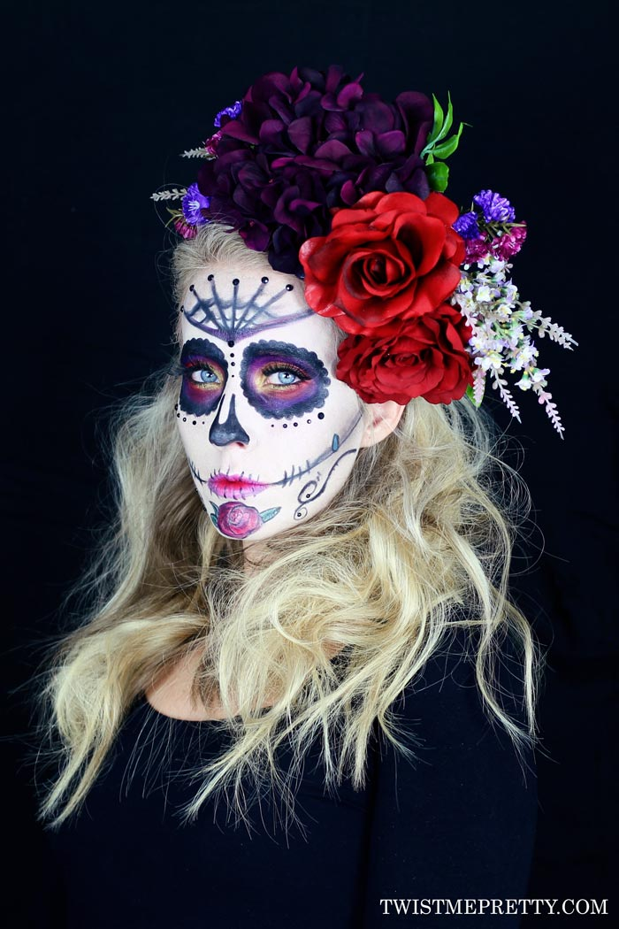 Sugar Skull Makeup Tutorial For Beginners Twist Me Pretty