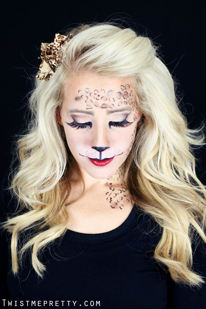 easy kitty cat or leopard makeup tutorial twist me pretty