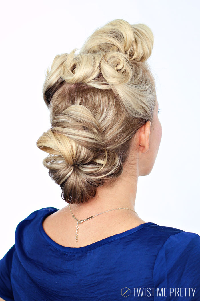 1940 S Pin Up Girl Hairstyle Tutorial Twist Me Pretty