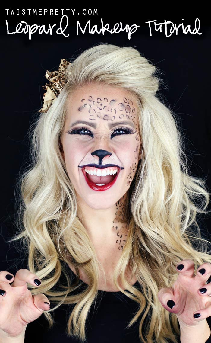 easy leopard makeup tutorial