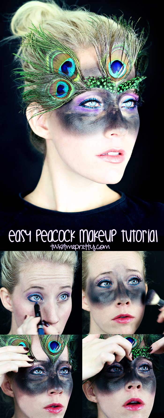 easy peacock makeup tutorial