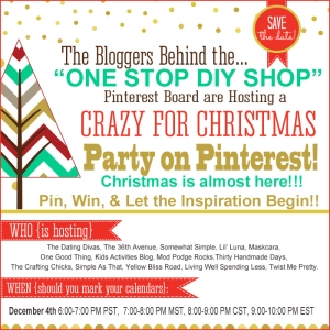 Crazy For Christmas Party on Pinterest and Giveaway!!!