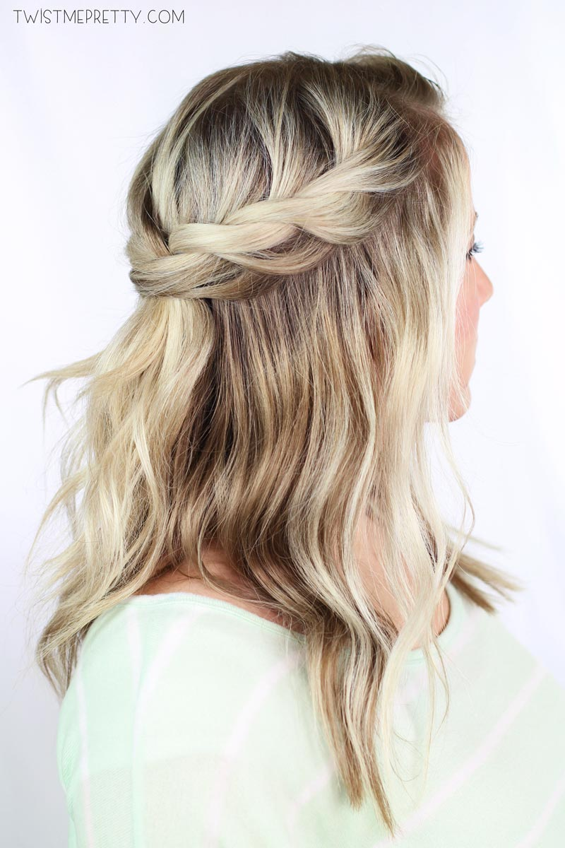 Twisted Crown Braid Tutorial Twist Me Pretty