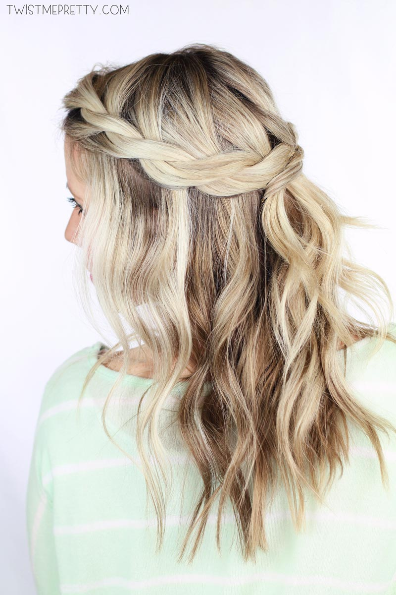 Twisted Crown Braid Tutorial - Twist Me Pretty