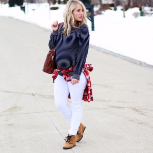 Stripes and Plaid, an outfit for travel