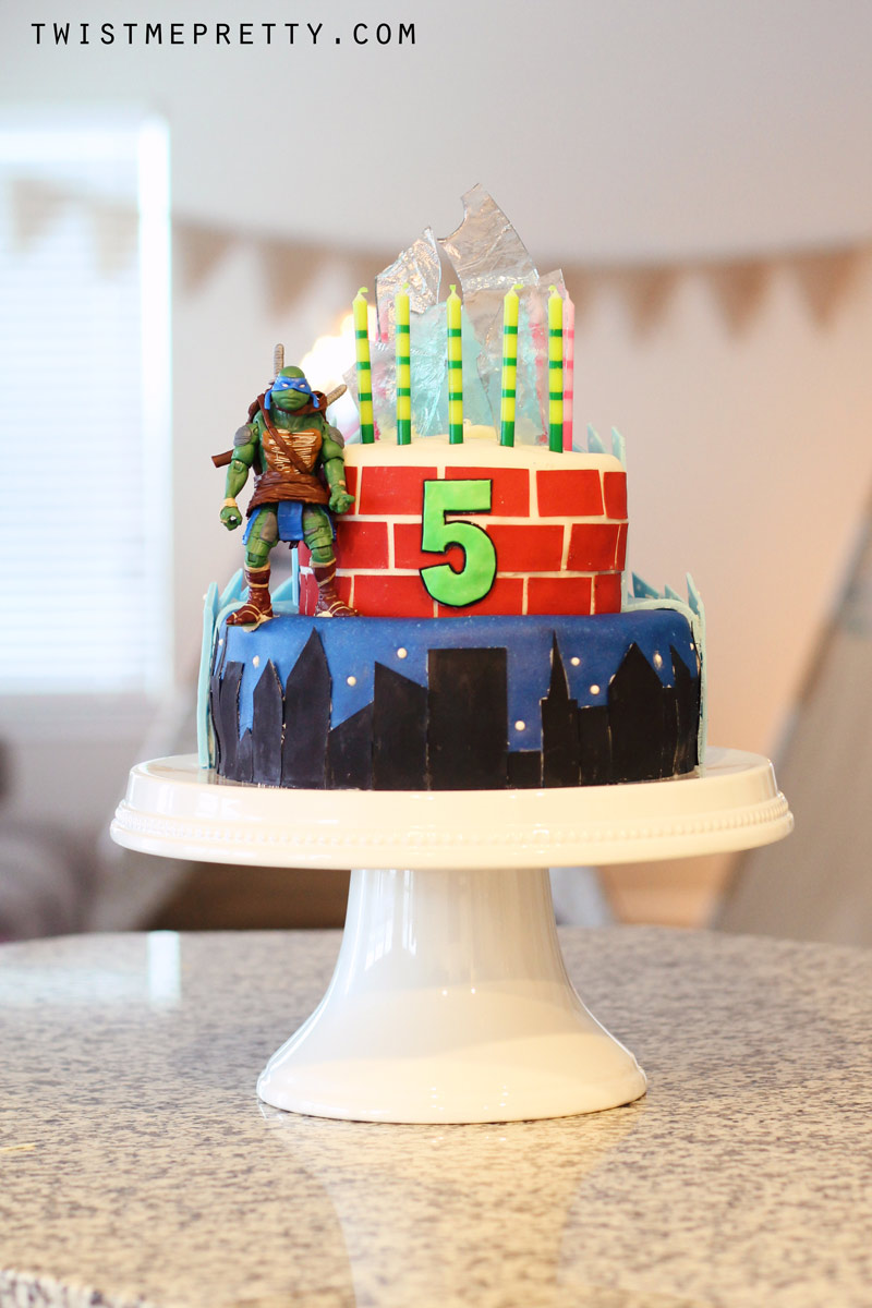 frozen and ninja turtle birthday cake