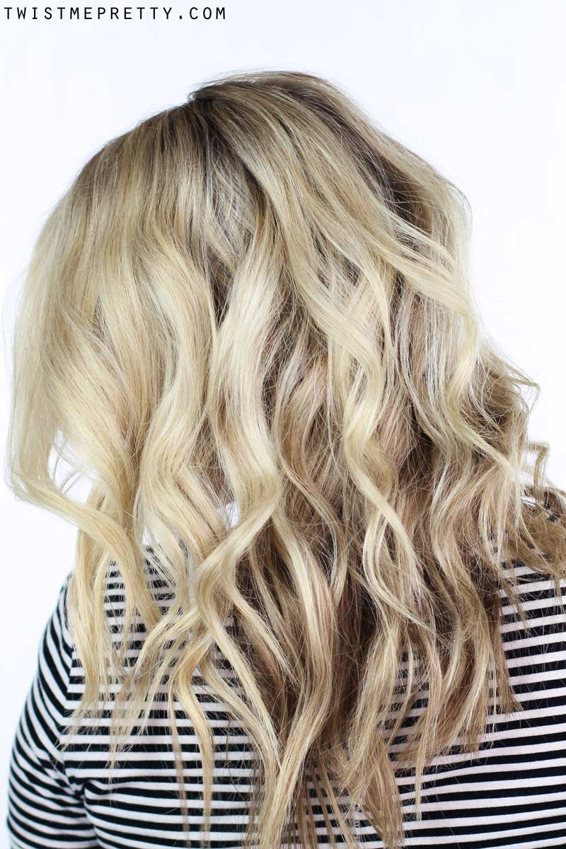 How To: Soft Waves Using a Curling Wand - Twist Me Pretty  How To: Soft Wa...