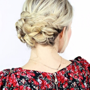 How To: Simple Braided Updo with Kenra Professional