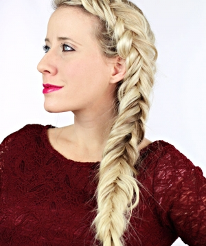Thick fishtail braid tutorial