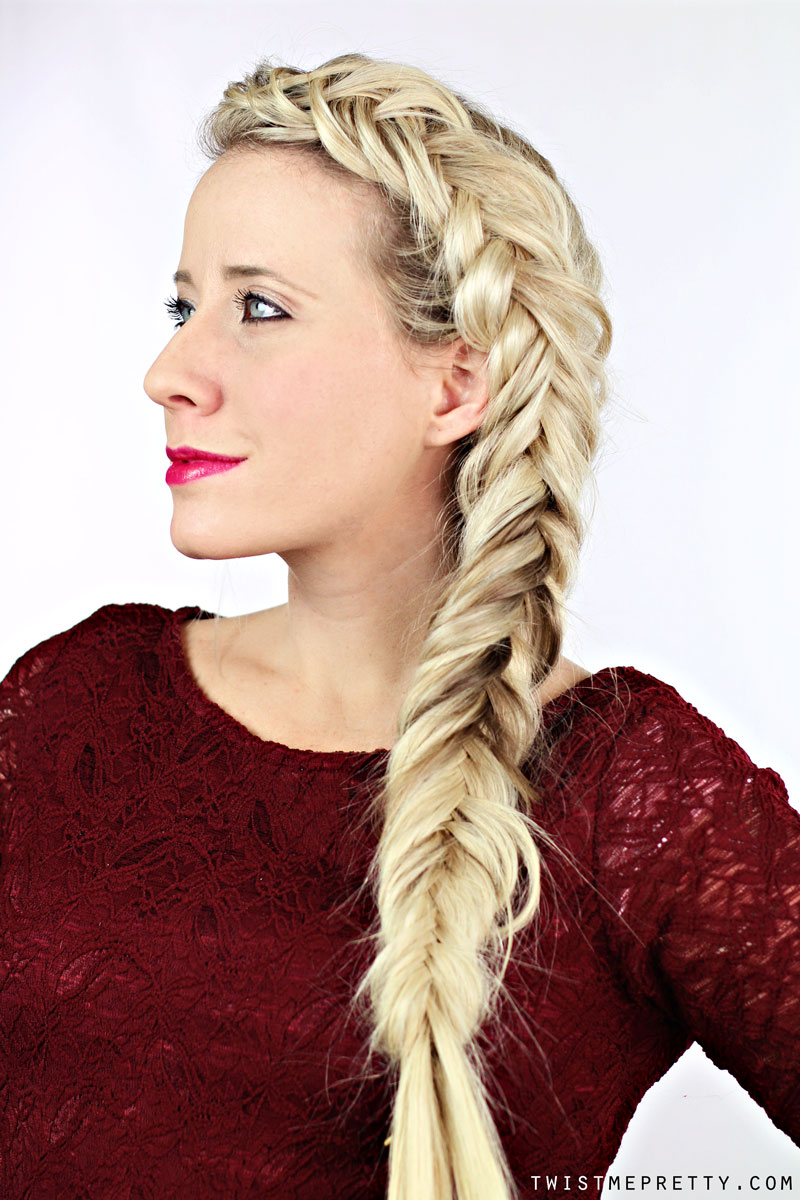 Thick Fishtail Braid Tutorial Twist Me Pretty