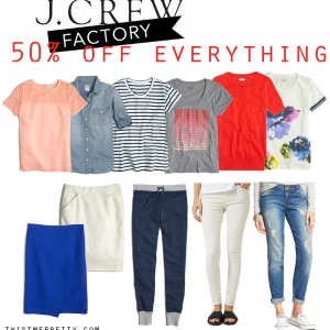 JCrew Factory – 50% off everything sale!