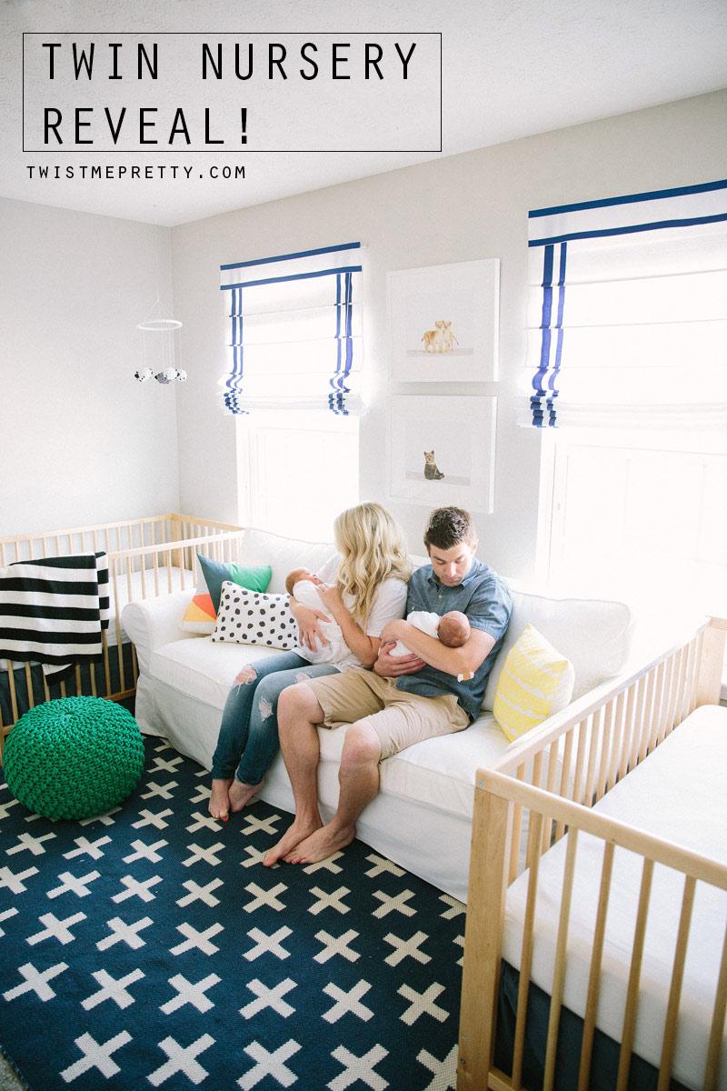 Twin Nursery Reveal Twist Me Pretty