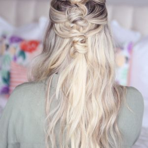 Bohemian Knotted Hairstyle with Extensions