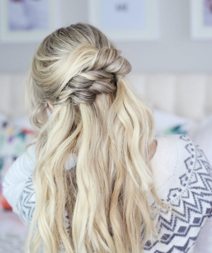 Pretty Half Up Hairstyle for the Holidays