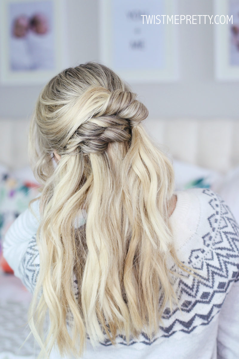 Pretty Half Up Hairstyle for the Holidays - Twist Me Pretty